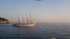 Windjammer vor Dubrovnik