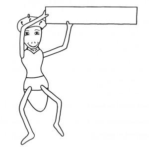Emse mit einem Schild