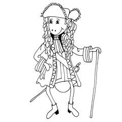Emse gekleidet wie Ludwig der 14.