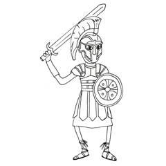 Emse als Gladiator