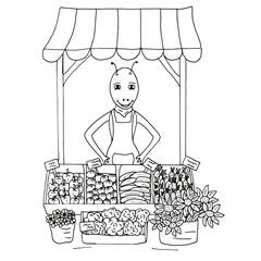 Emse als Marktfrau