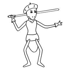 Emse mit Laser Schwert
