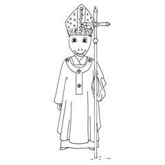 Emse als Papst im Festgewand