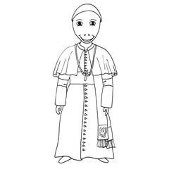 Emse als Papst im Alltagsgewand